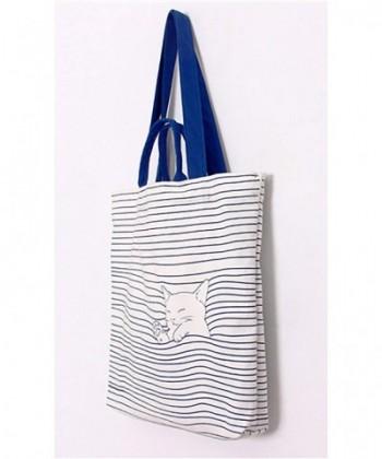 01bede4cd091 Women's Pure Cotton Canvas Tote Shoulder Bag - Beckoning Cat - CA185OY7QZ0