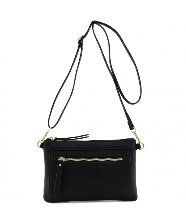 Multi functional Wristlet Clutch Crossbody Black