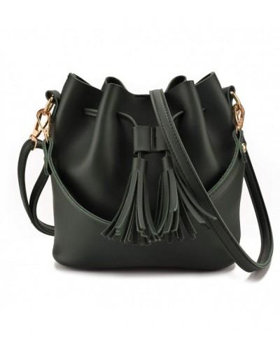 Jiaruo Leather Drawstring Handbags Shoulder