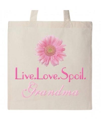 Inktastic Live Love Spoil Grandma Tote Natural 1850d