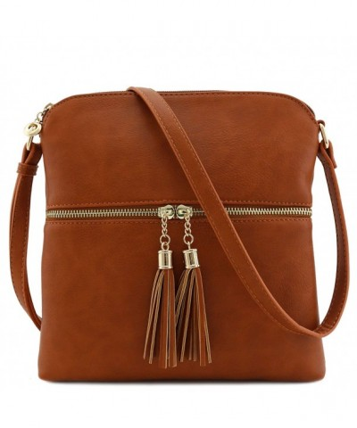 Tassel Zip Pocket Crossbody Dark