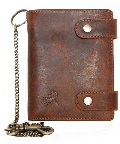 Genuine Leather Bikers Wallet Scorpion