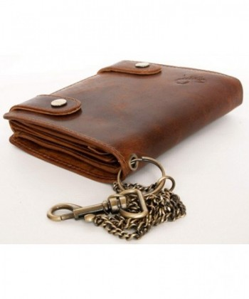 547a160ce8d0 Men's Genuine Leather Biker's Wallet with Metal Chain to Hang with Scorpion  - CA12D43G2Q7