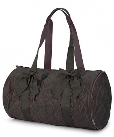 Girls Brown Quilted Duffle Inches