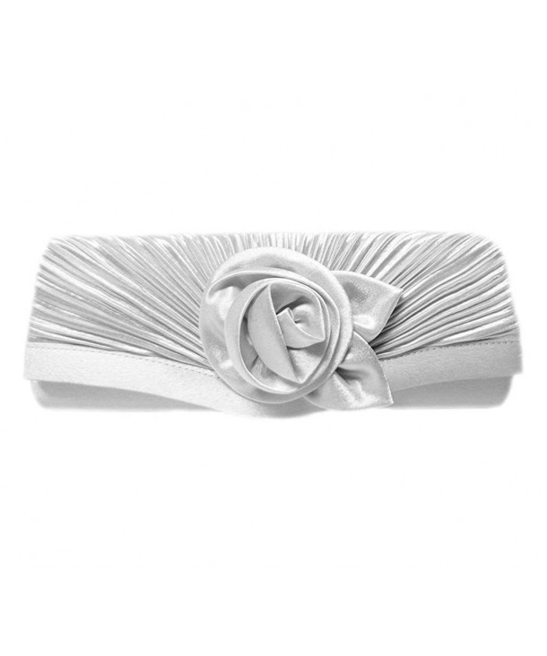 Bloom Party Clutch 10 inch Silver