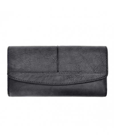 ZLYC Womens Capacity Leather Clutch