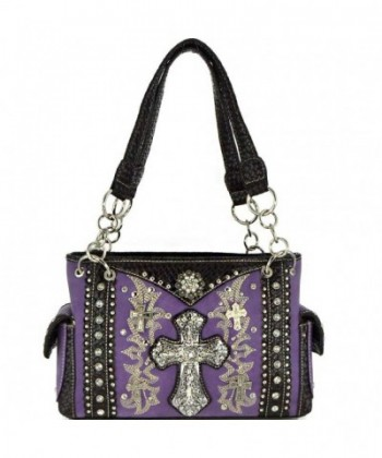 Concho Rhinestone Studded Concealed Handbag MT893