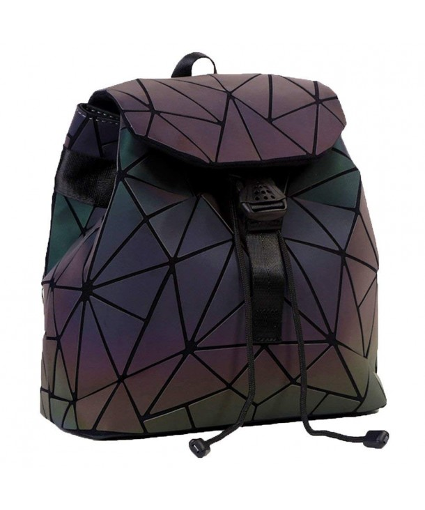 Geometric Backpack Luminous Rainbow Fashion