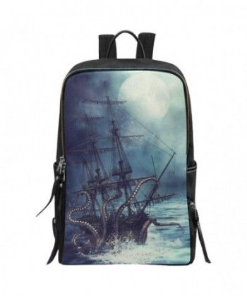 InterestPrint Nautical Octopus Backpack Daypack
