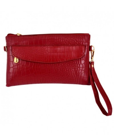 Crocodile Pattern Wristlet Alligator Shoulder