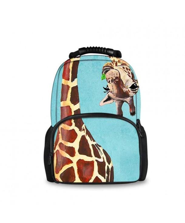 OKAYDECOR Giraffe Travel Outdoor Backpacks