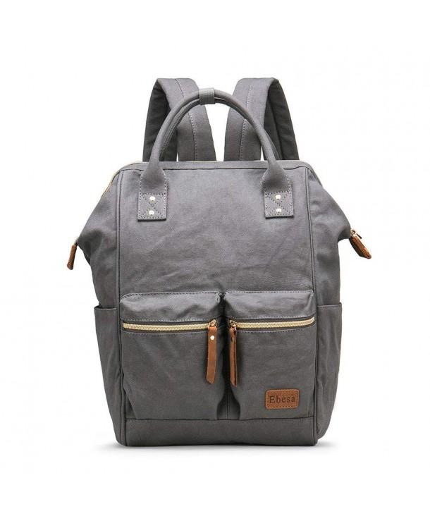Multifunction Canvas Backpack Rucksack Pockets