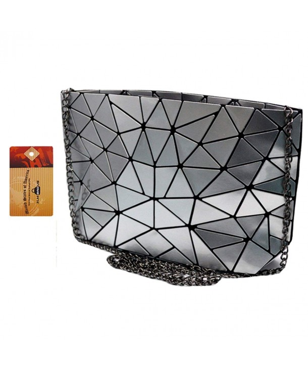 ZLMBAGUS Hologram Envelope Geometric Crossbody