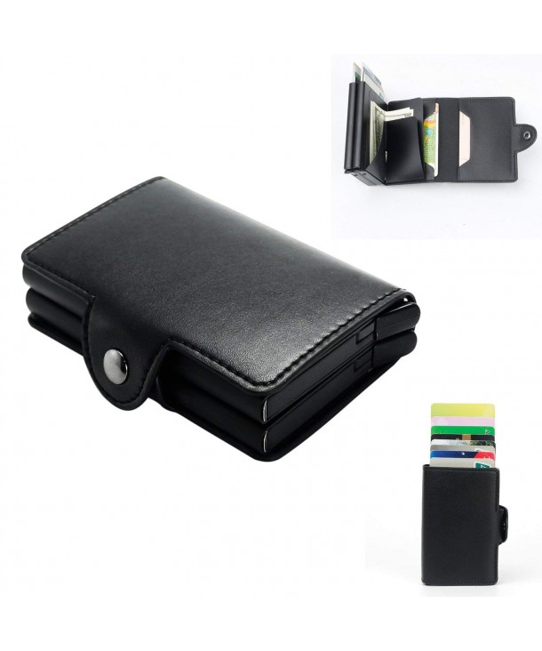 Holder Anti theft RFID Pop up Leather Wallets