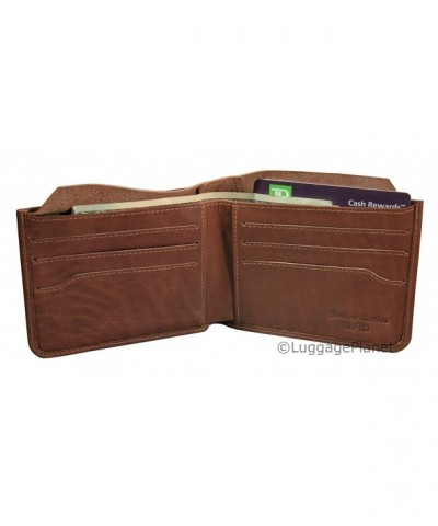 Leather Billfold Wallet Hidden Pocket