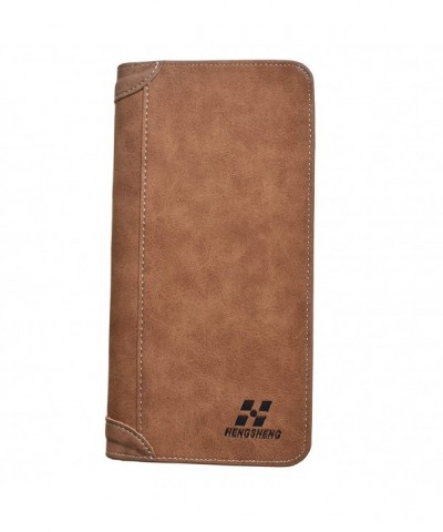 Vintage Wallets Bifold Holder Brown