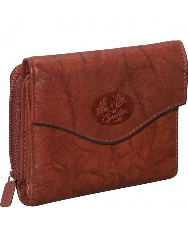 Buxton Heiress Leather Purse Mahogany