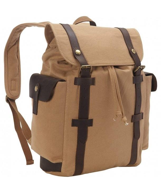 Vagabond Traveler Stylish Canvas Backpack