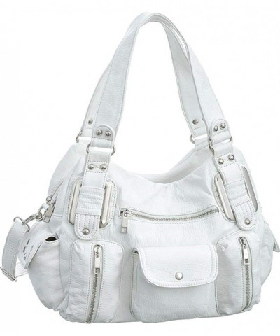 Ultra Utilitarian White Convertible Satchel