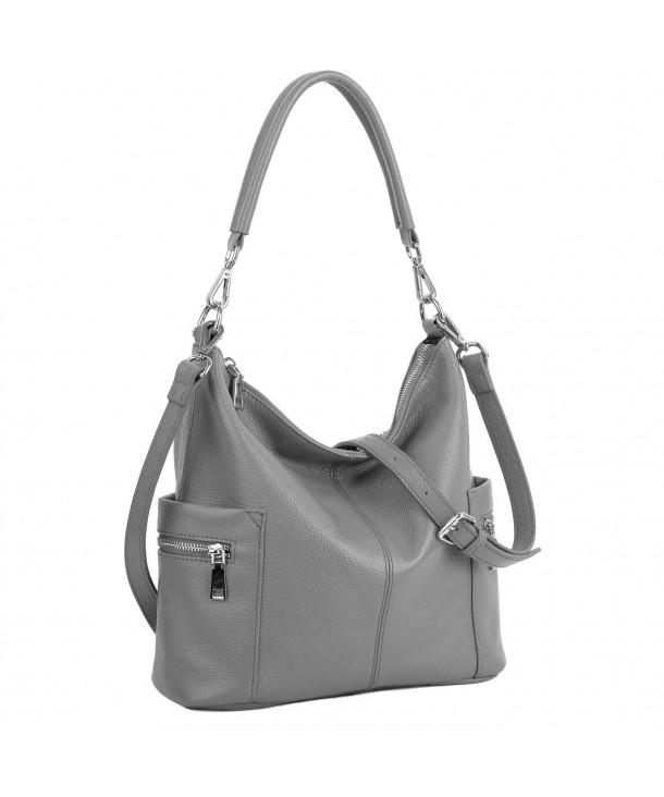 4c19b0f582 Women s Multi Pocket Soft Cowhide Leather Medium Purse Hobo Style ...