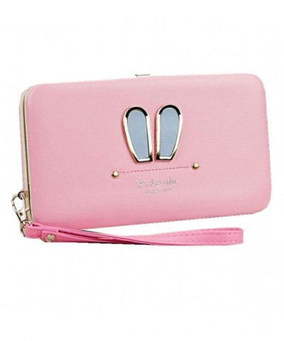 Leather Wristlet Business Holders Women