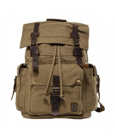 Jonon Backpack MenLeather Rucksack Knapsack