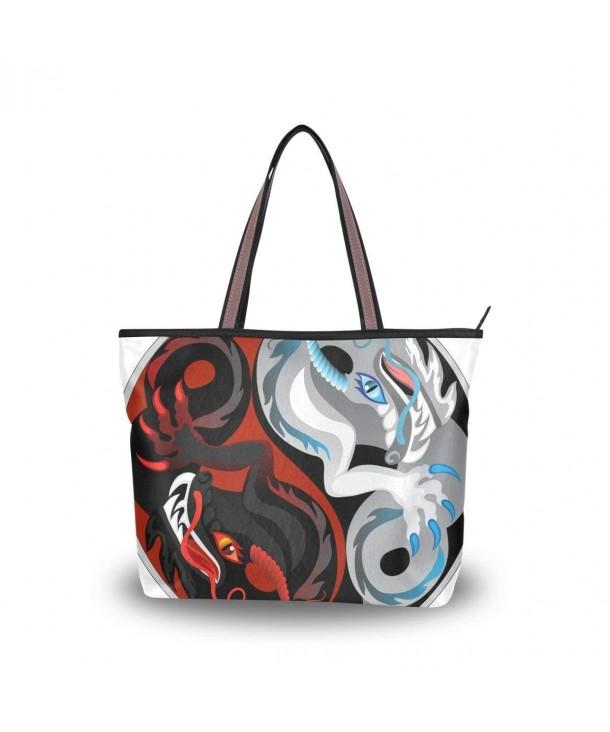 JSTEL Handle Shoulder Dragon Handbag