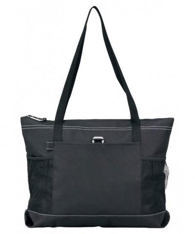 Gemline Select Zippered Tote Black