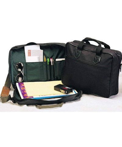 BLACK SIMPLE LIGHTWEIGHT SOFTSIDE BRIEFCASE BAG