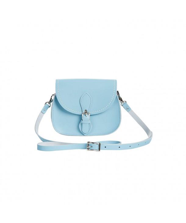 6af488006e7d Womens Handcrafted Pastel Leather Micro Saddle Bag (British Made) - Baby  Blue - C912BJKTH4V