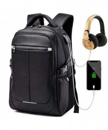 Backpack Waterproof Headphone Interface Laptop Black