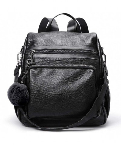 Backpack Leather Detachable Covertible Shoulder