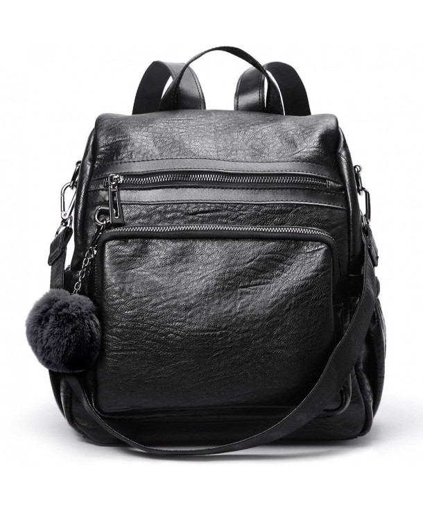 Backpack Leather Detachable Covertible Shoulder