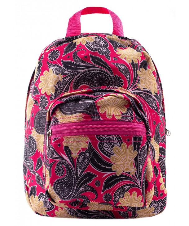 Mini Backpack Paisley Pink Yellow