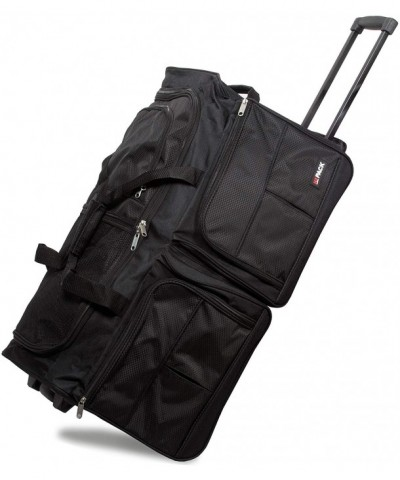 Polyester Rolling Wheeled Duffel Black