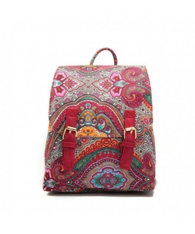 Small Canvas Backpack Floral Ms Camellia
