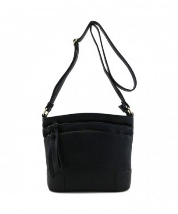 Triple Pocket Medium Crossbody Black