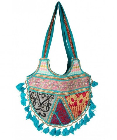 Tribe Azure Shoulder Colorful Handmade