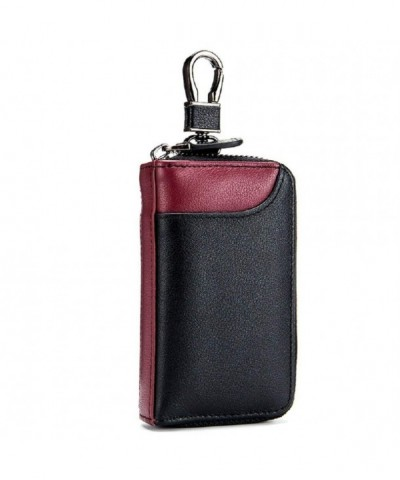 Leather Wallet Credit Holder Keychain
