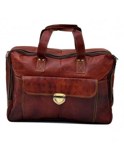 Genuine Leather Messenger Weekend Briefcase