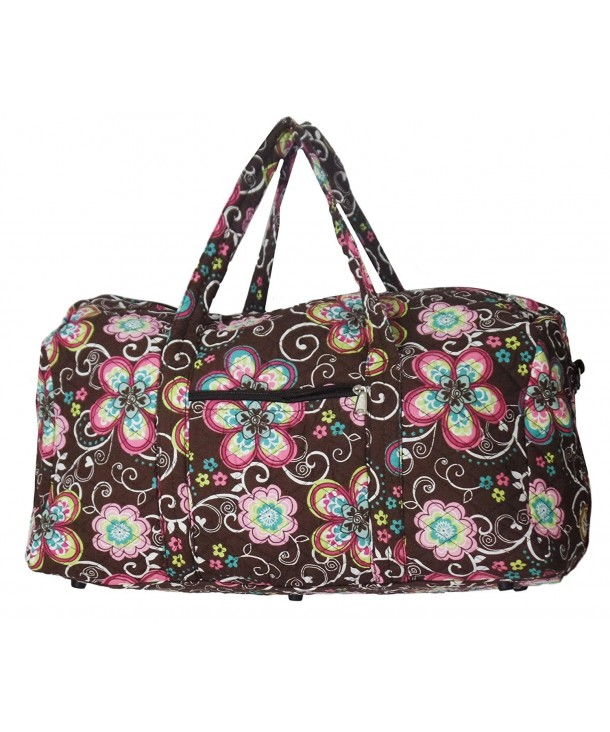 Bohemian Prints Quilted Duffle Flowers