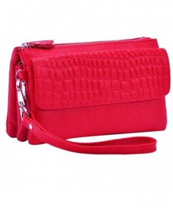 Womens Leather Shoulder Crossbody Wristlet