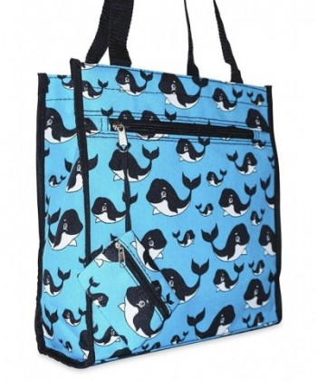Ever Moda Whale Tote Bag