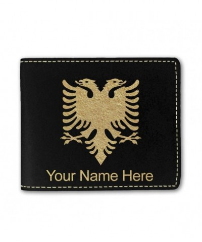 Leather Albania Personalized Engraving Included