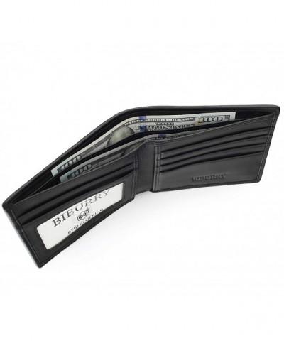 BIBURRY Wallets Men Blocking Genuine