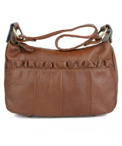 YALUXE Cowhide Leather Crossbody Shoulder