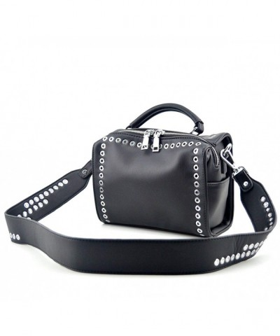 Mn Sue Fashion Womens Rivet Shoulder Handbag