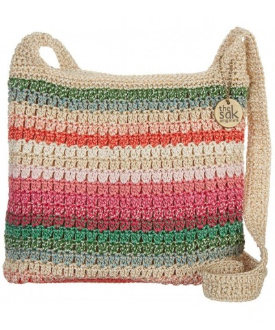 Riveria Crossbody Handbag Size stripe