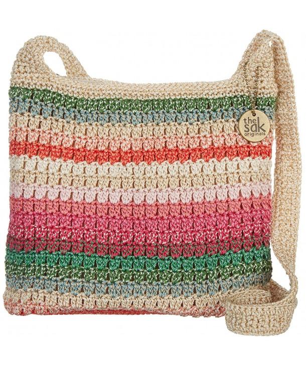 Riveria Crossbody Handbag Size stripe