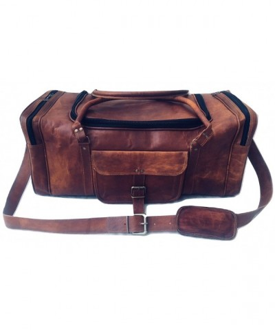 Genuine Leather Vintage Overnight Weekender